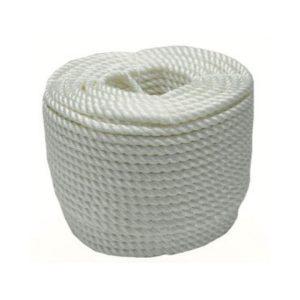 cordel perlon torcido blanco